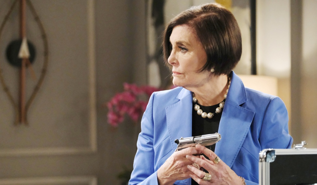 Vivian's got a gun on Days of Our Lives