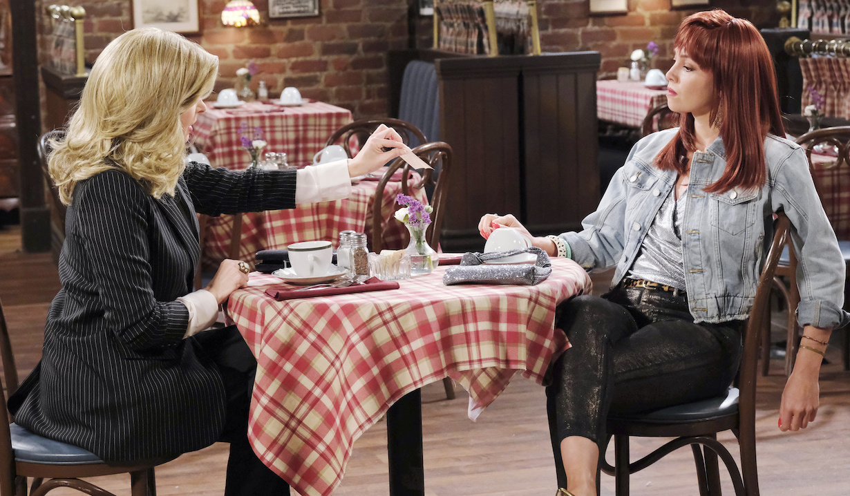 Young Laura pays off young Tiffany on Days of Our Lives