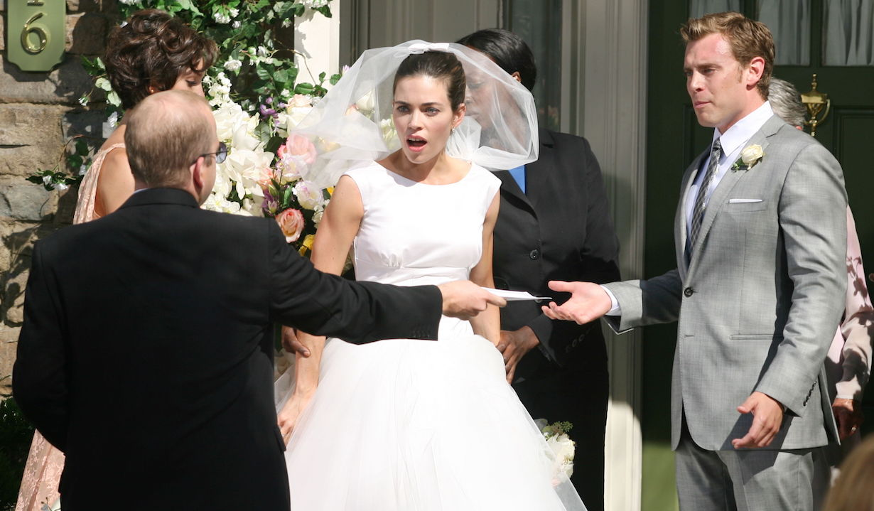"Amelia Heinle, Billy Miller ""The Young and the Restless"" billy victoria wedding am"