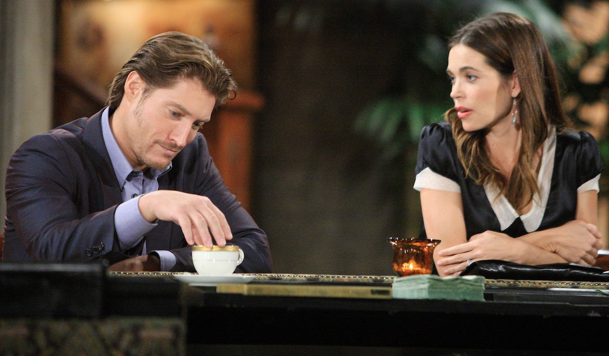"Sean Kanan, Amelia Heinle ""The Young and the Restless"" deacon victoria"