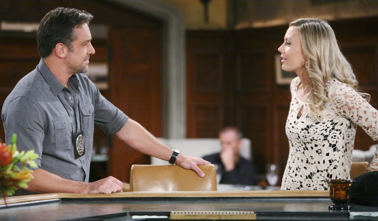 """Chris McKenna, Melissa Ordway""""The Young and the Restless"""" Set CBS television CityLos Angeles10/07/14© sean smith/jpistudios.com310-657-9661Episode # 10538U.S. Airdate 11/11/14"""