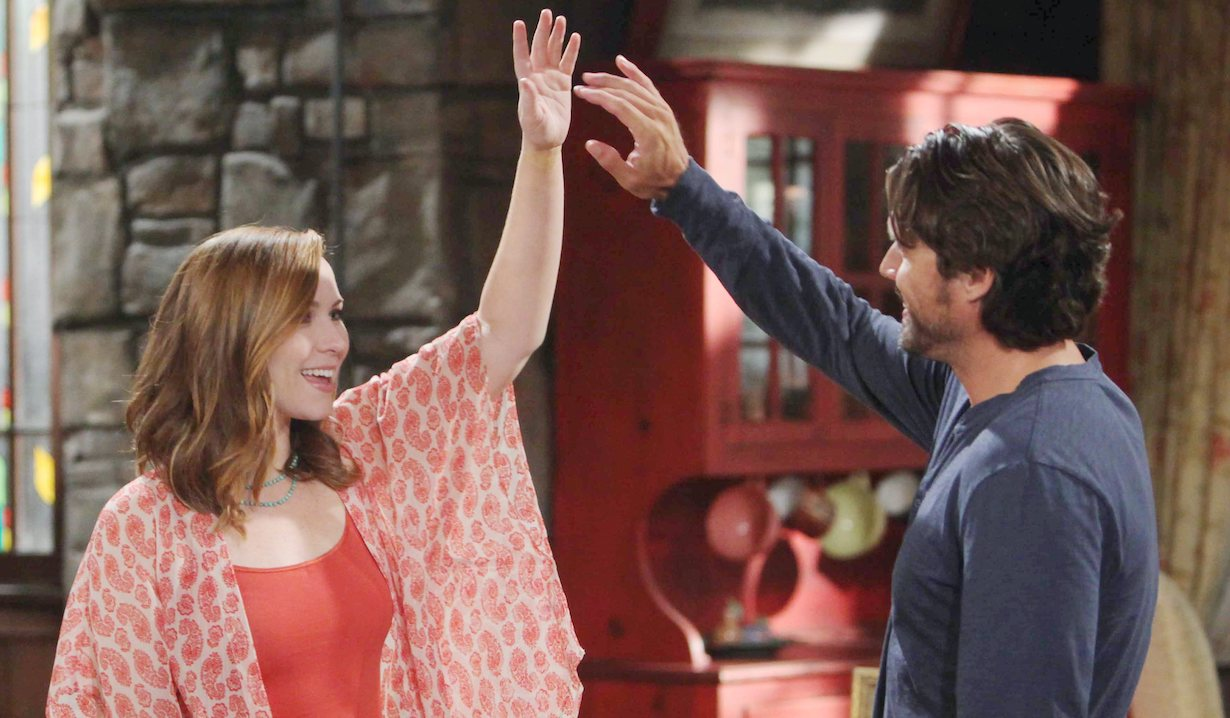 "mariah nick Joshua Morrow, Camryn Grimes""The Young and the Restless"" Set CBS television CityLos Angeles07/15/14© Howard Wise/jpistudios.com310-657-9661Episode # 10479U.S. Airdate 08/18/14"