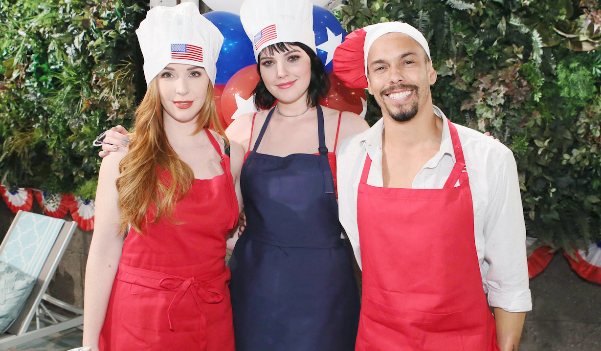 "mariah tessa devon Camryn Grimes, Cait Fairbanks, Bryton James""The Young and the Restless"" Set CBS television CityLos Angeles04/24/18© Howard Wise/jpistudios.com310-657-9661"