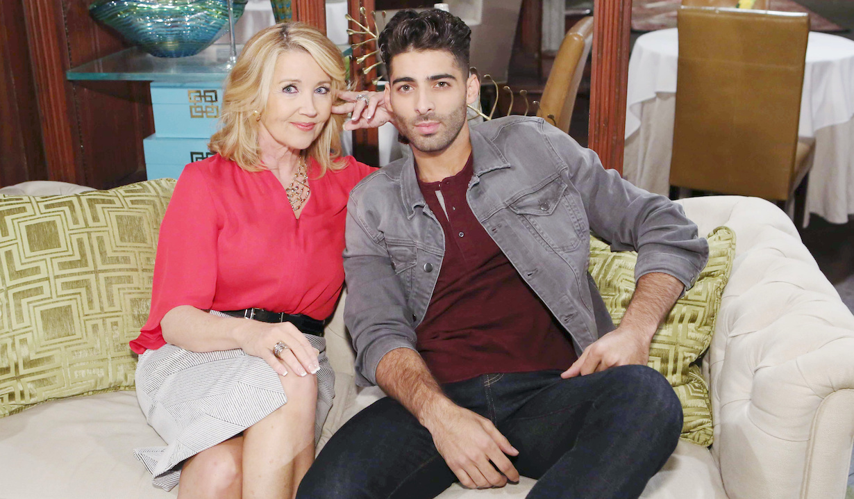 """The Young and the Restless"" Melody Thomas Scott, Jason Canela arturo nikki"