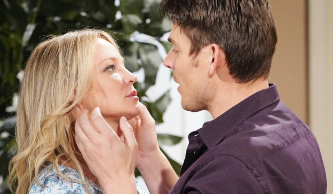 "Sharon Case, Mark Grossman ""The Young and the Restless"" Set CBS television City Los Angeles 01/08/21 © Howard Wise/jpistudios.com 310-657-9661 Episode # 12045 U.S. Airdate 02/04/21"