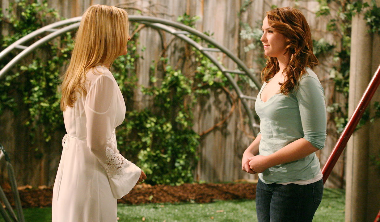 "Sharon Case, Camryn Grimes""The Young and the Restless"" SetCBS Televison CityLos Angeles4/21/09©Aaron Montgomery/jpistudios.com310-657-9661Episode # 9139U.S. Airdate 5/6/09"