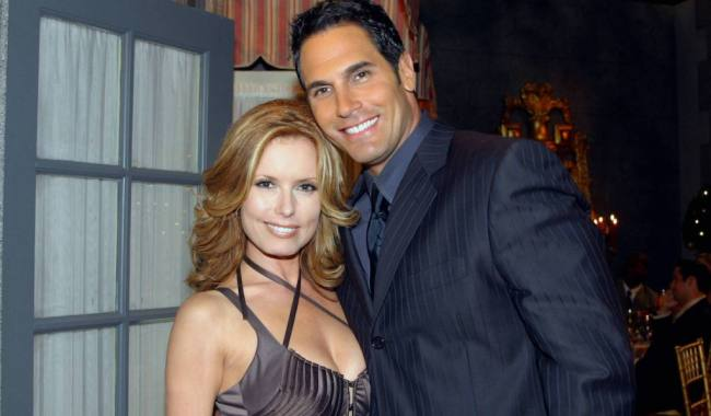 """yr brad lauren Tracey Bregman and Don Diamont""""The Young and the Restless"""" SetCBS Television City8/18/04©Brian Lowe/jpistudios.com310-657-9661"""