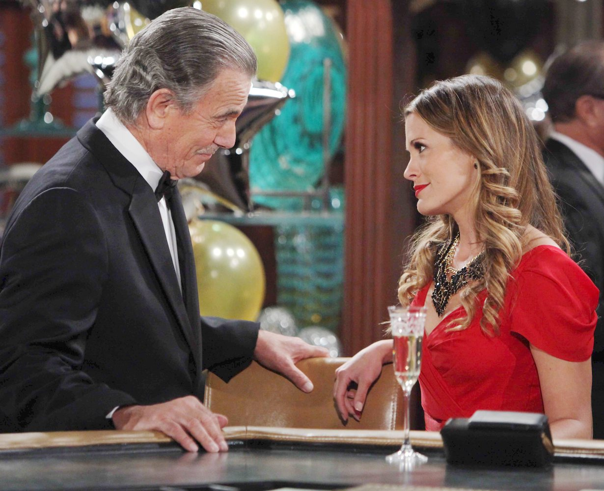 "Melissa Claire Egan, Eric Braeden ""The Young and the Restless"" victor chelsea hw"