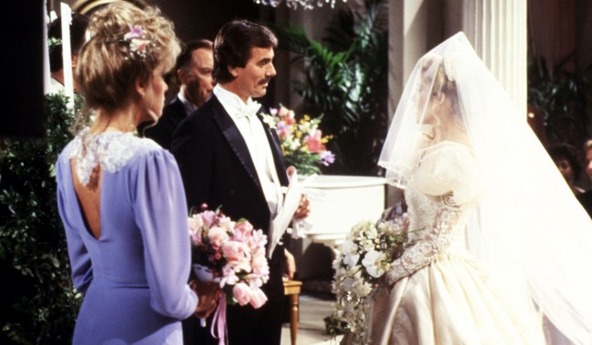 victor nikki wedding THE YOUNG AND THE RESTLESS, Eileen Davidson, Eric Braeden, Melody Thomas Scott, (ca. early 1980s), 1973-. © CBS / Courtesy: Everett Collection