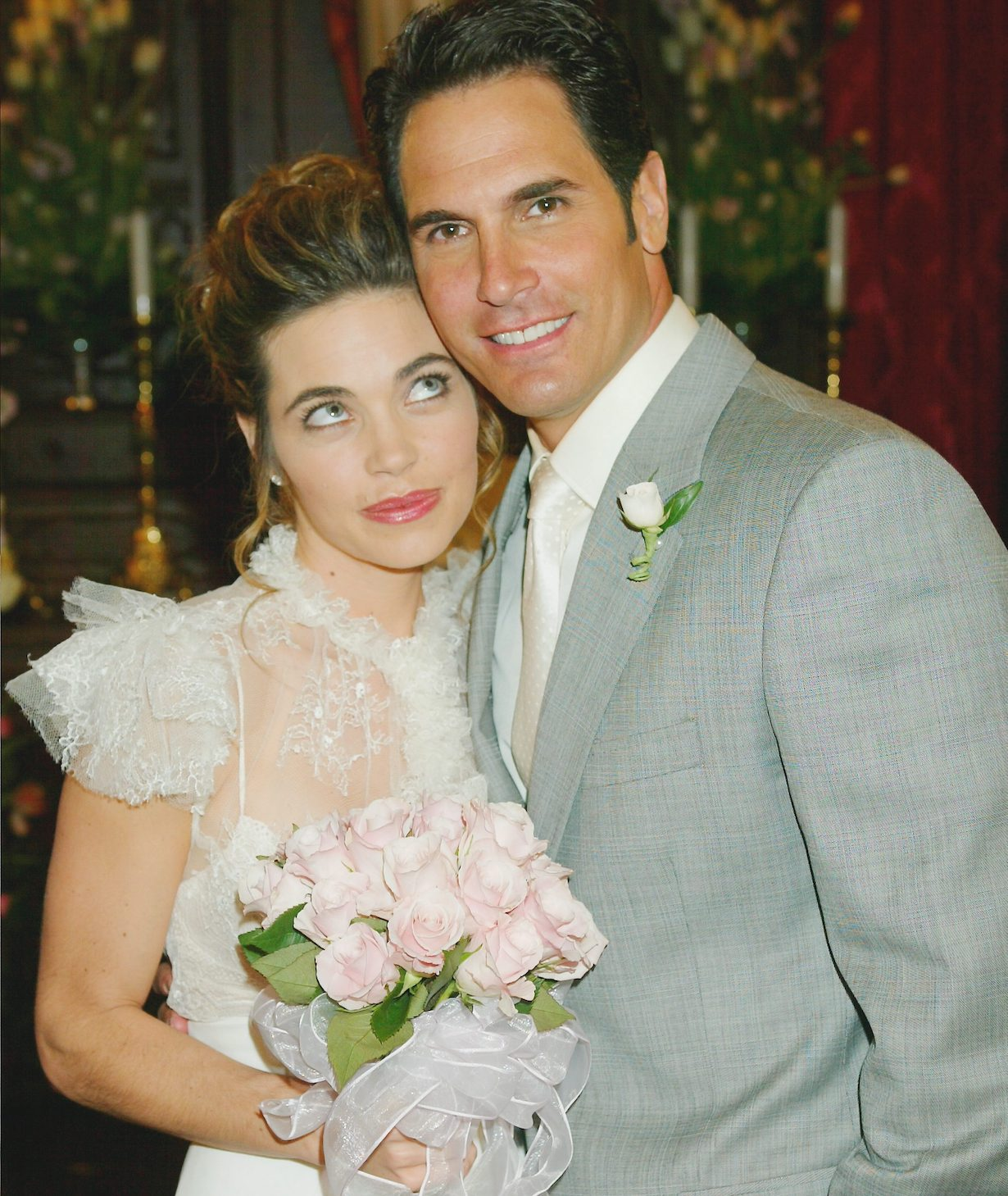 "Don Diamont, Amelia Heinle ""The Young and the Restless"" brad victoria wedding"