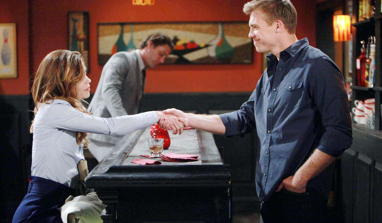 """Amelia Heinle, Michael Roark """"The Young and the Restless"""" Set CBS television City Los Angeles 03/22/16 © Howard Wise/jpistudios.com 310-657-9661 Episode # 10913 U.S. Airdate 05/03/16"""