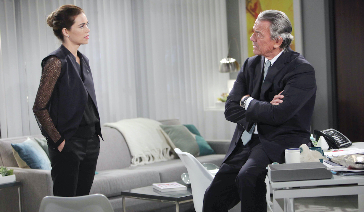 "Eric Braeden, Amelia Heinle ""The Young and the Restless"" victoria victor hw"