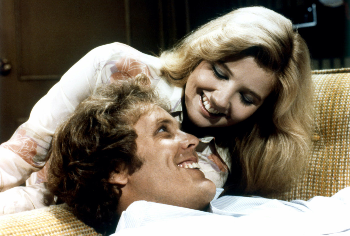 THE YOUNG AND THE RESTLESS, from left: Wings Hauser, Melody Thomas Scott, 1973-, ©CBS/courtesy Everett Collection