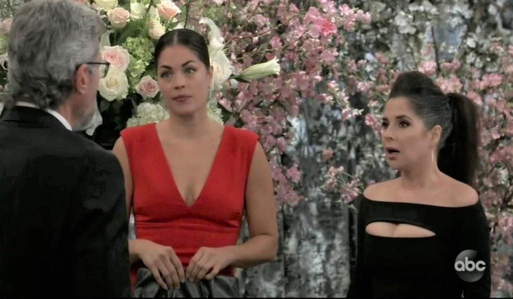 Britt Sam and Mac worry about Maxie in ballroom General Hospital