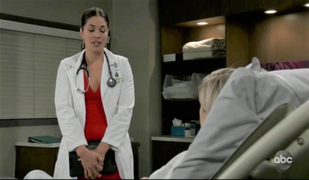 Britt updates Maxie at General Hospital