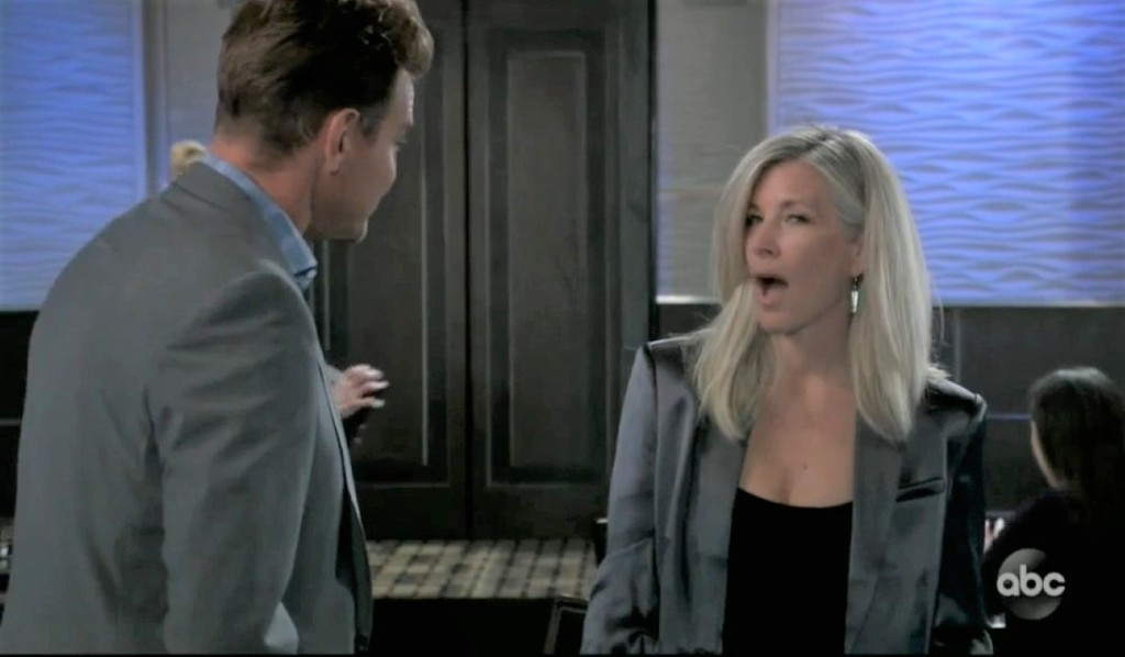 Carly vents to Jax about Jason at Metro Court General Hospital