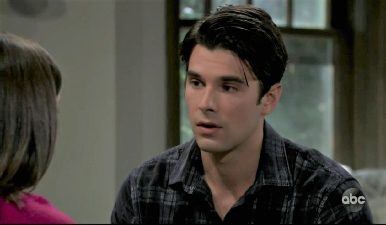 Chase tells Willow about his paternity woes at the guesthouse General Hospital