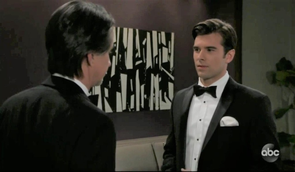 Finn and Chase talk wedding at Metro Court General Hospital