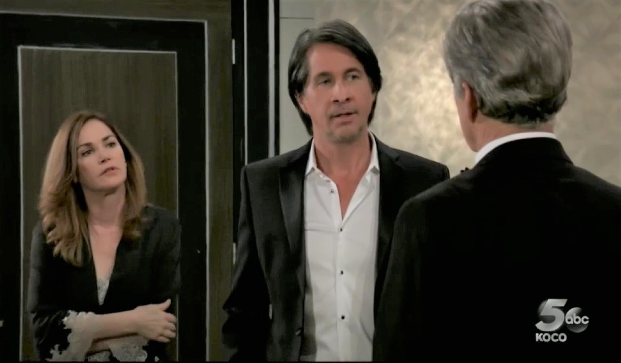 Finn and Jackie confess to Gregory at Metro Court General Hospital