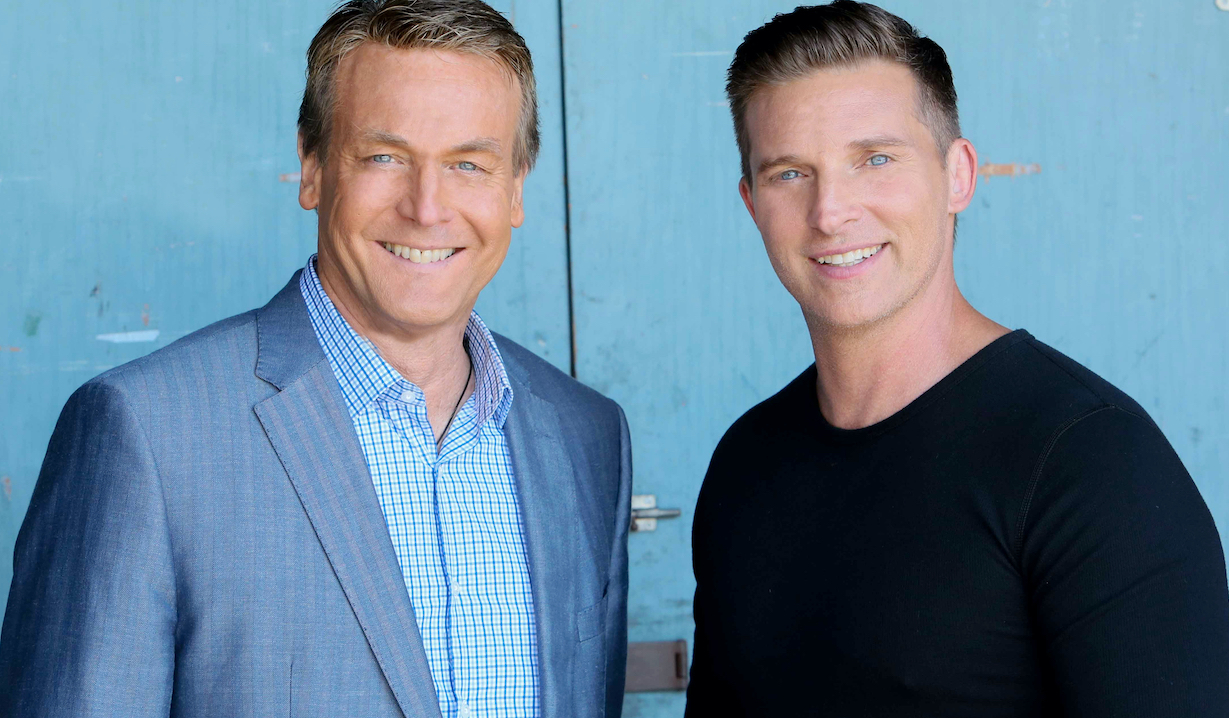 "Steve Burton, Doug Davidson""The Young and the Restless"" Set CBS television CityLos Angeles08/09/16© Howard Wise/jpistudios.com310-657-9661"