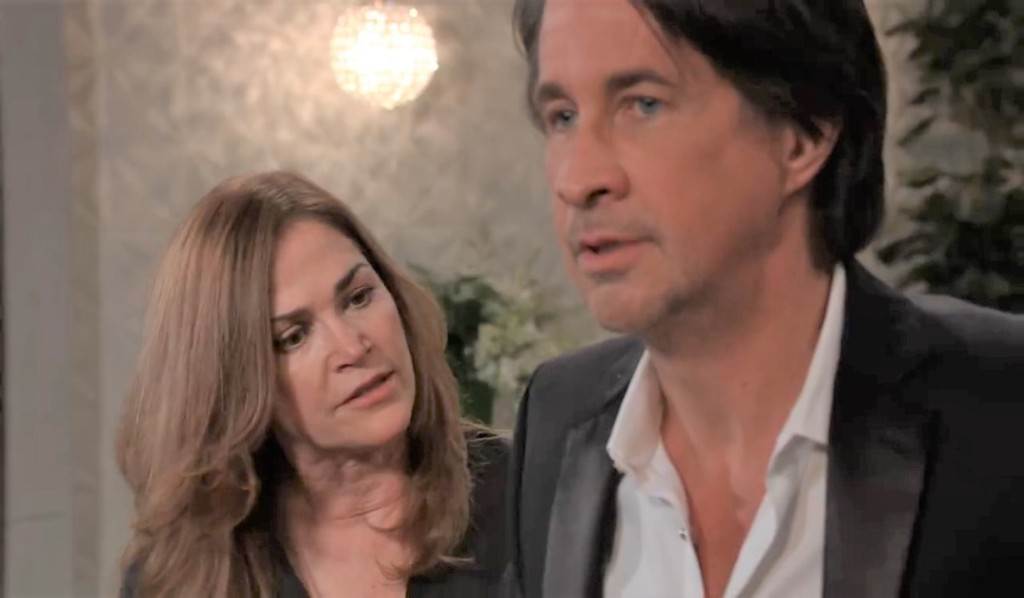 Jackie and Finn talk moving on at Metro Court General Hospital