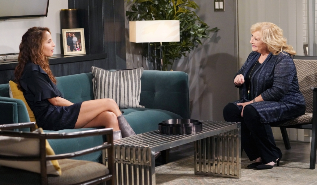Lily and Traci talk about insecurity at Chance Com Y&R