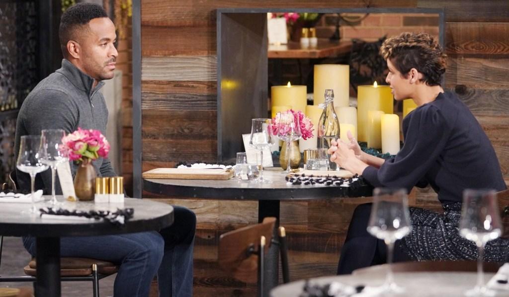 Nate, Elena dinner Y&R