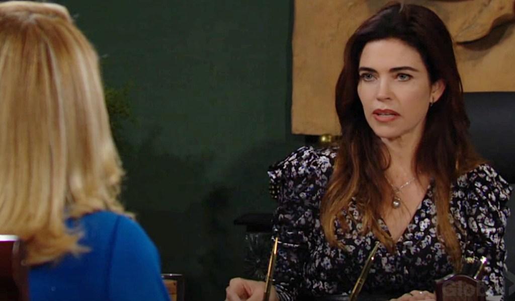 Nikki, Victoria debate Y&R
