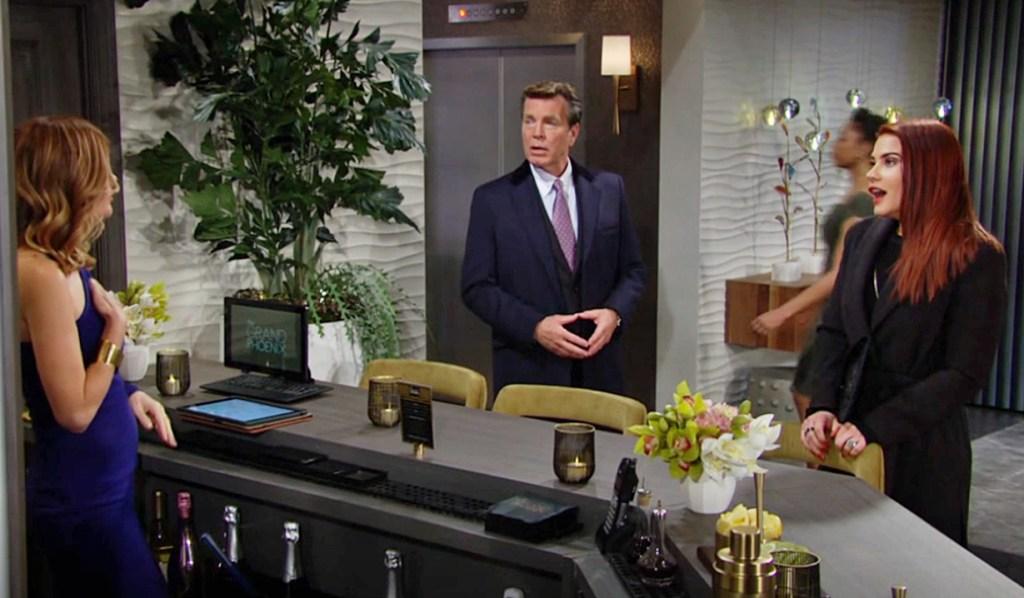 Phyllis, Jack, Sally interrupting Y&R