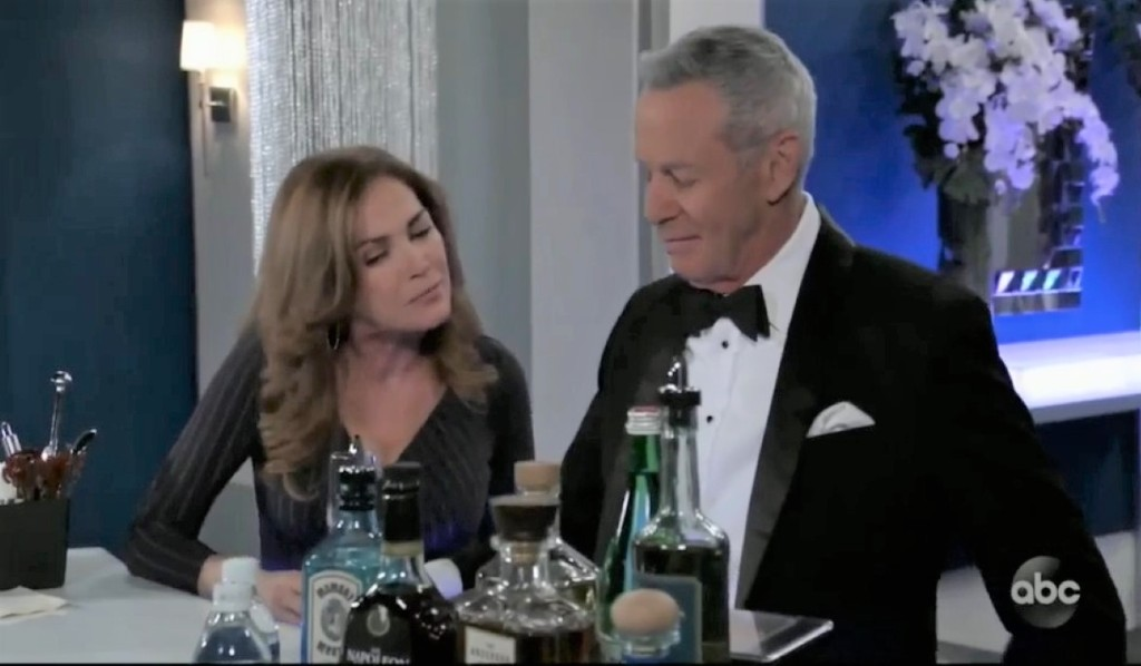 Robert and Jackie talk weddings in ballroom General Hospital