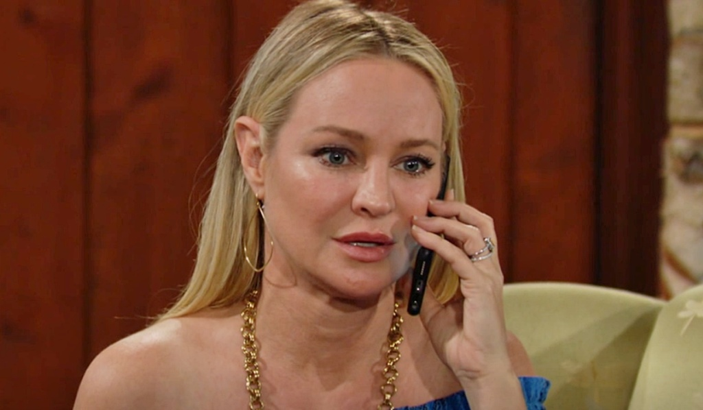 Sharon on the phone with Adam Y&R