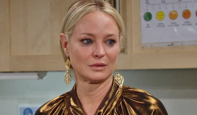 Sharon troubling news Y&R