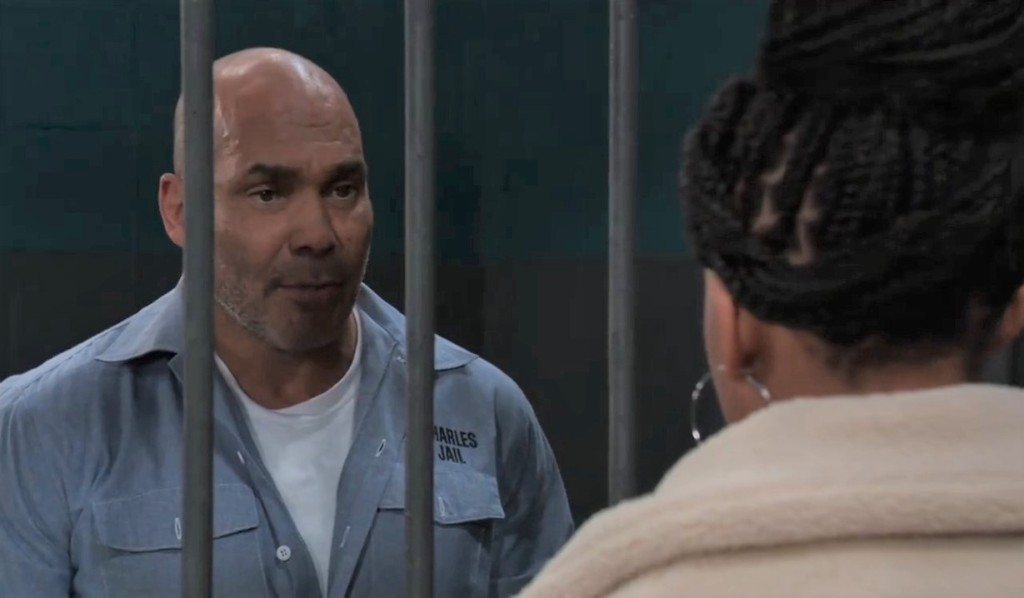 Trina visits Taggert in cells General Hospital