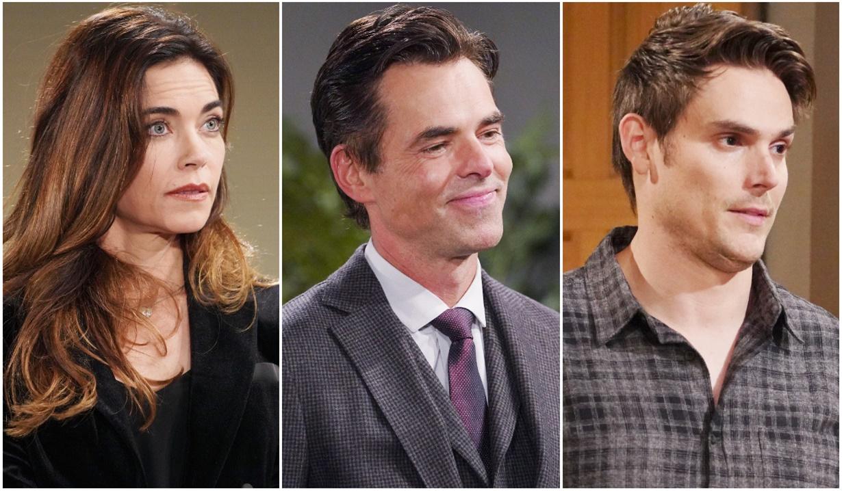 Victoria, Billy, Adam bidders Y&R