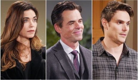 Victoria, Billy, Adam bidders Y&R