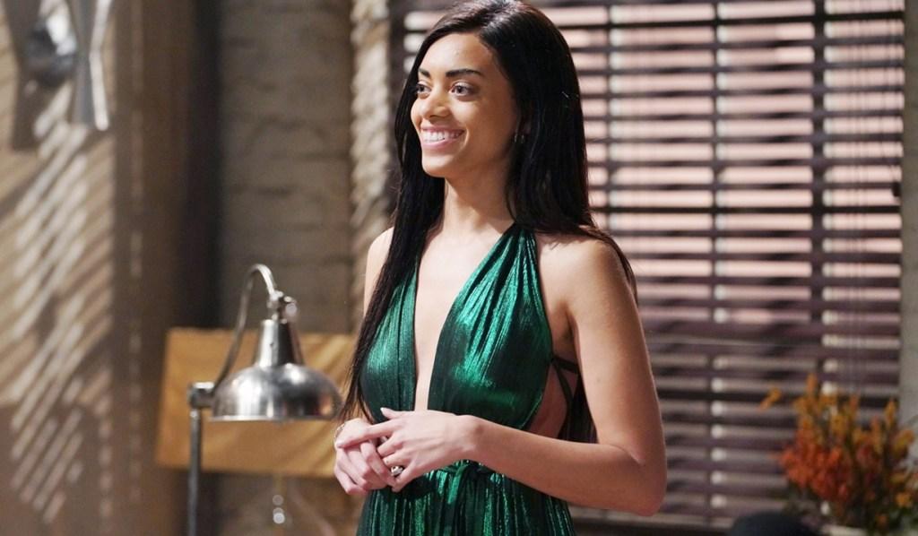 Zoe green gown surprise