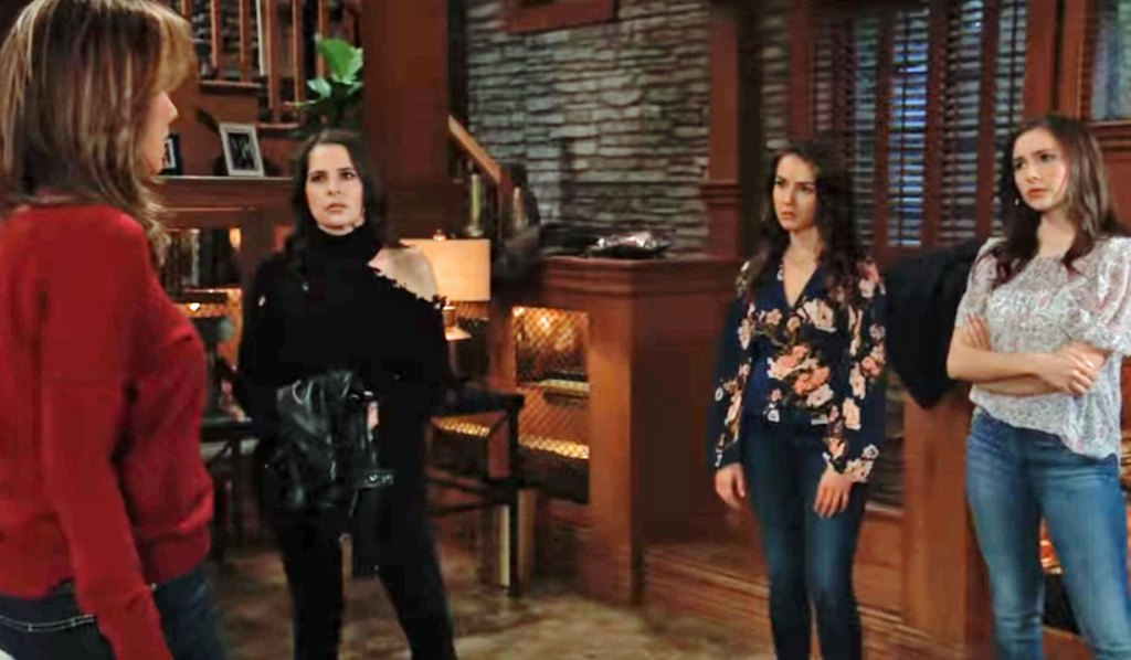 Alexis meets with her daughters on GH