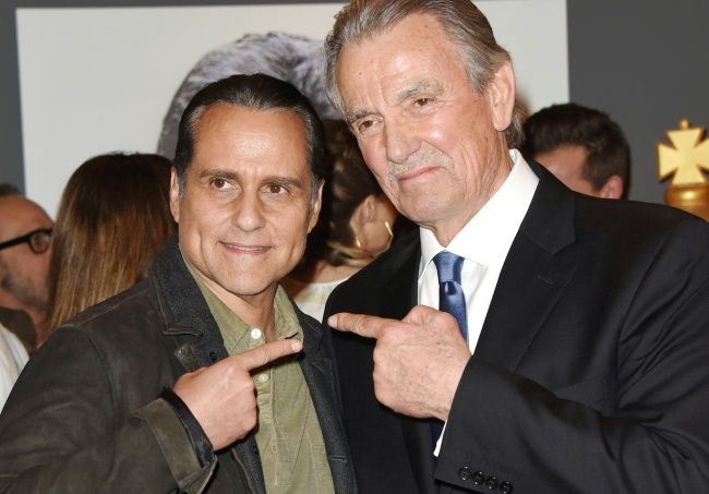 Eric Braeden, Maurice Benard at the 40th Anniversary Celebration of Eric Braeden Starring on The Young and the Restless on the set at CBS Television City on February 7, 2020© Jill Johnson/jpistudios.com 310-657-9661