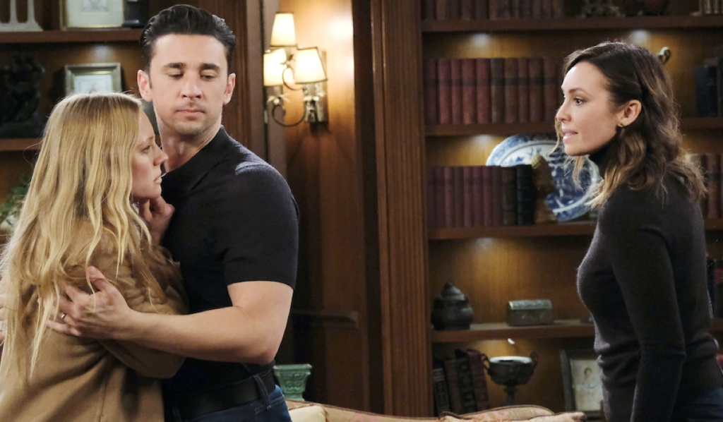 Chad prevents Abigail from going after Gwen on Days of Our Lives