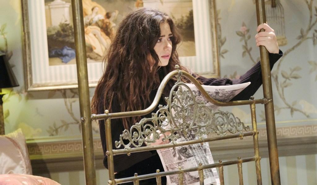 Ciara reads fake paper DAYS