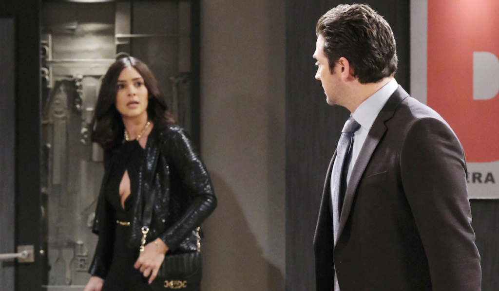 Gabi surprised by Jake on Days of Our Lives