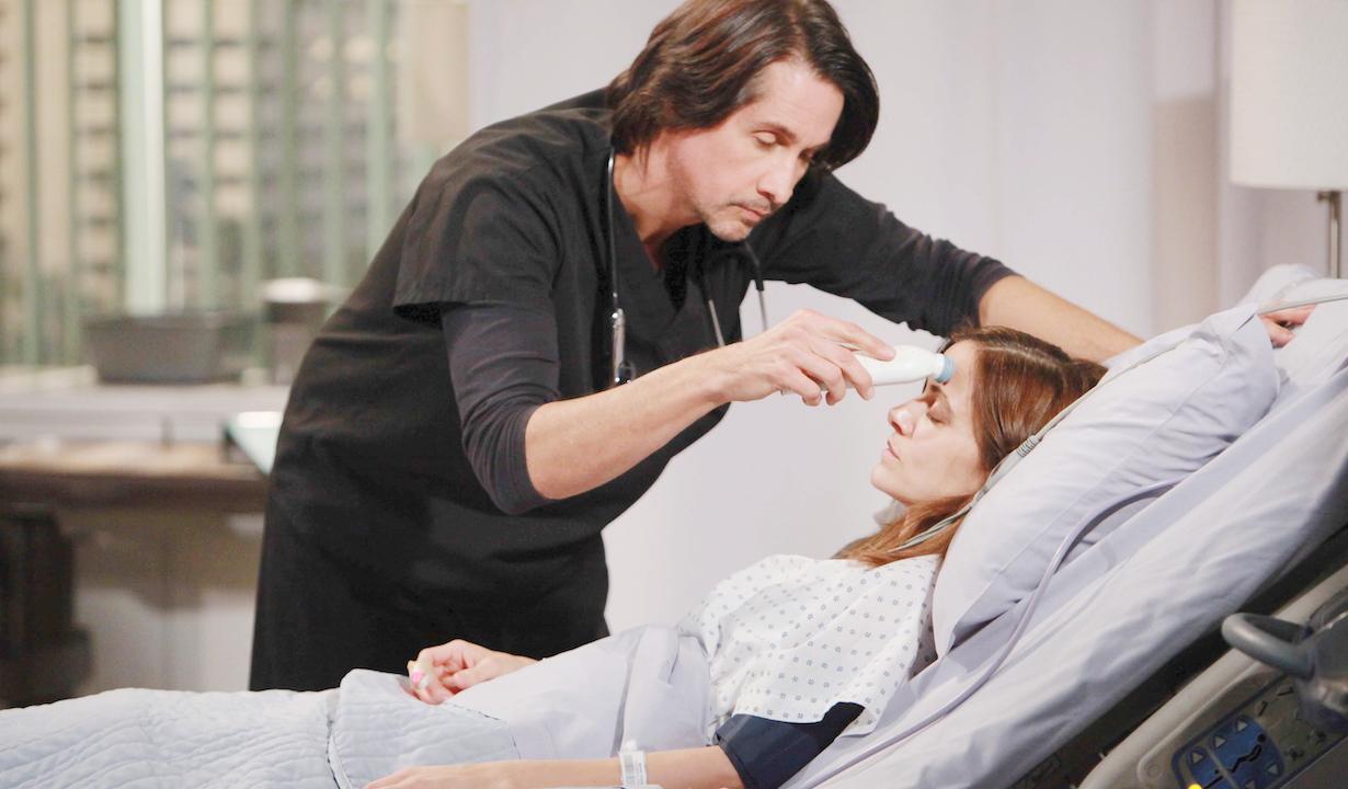 "Michael Easton, Rebecca Budig ""General Hospital"" Set The Prospect Studios ABC Studios 11/28/16 ©Howard Wise/jpistudios.com 310-657-9661 Episode # 13709 U.S. Airdate 12/22/16"
