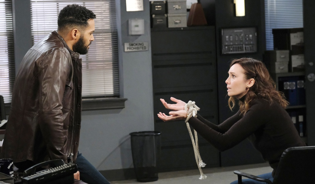 Gwen pleads her case to Eli on Days of Our Lives