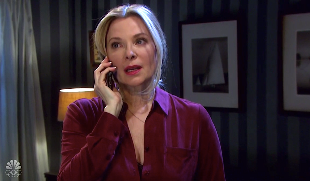 Jennifer talks to Jack on the phone on Days of Our Lives