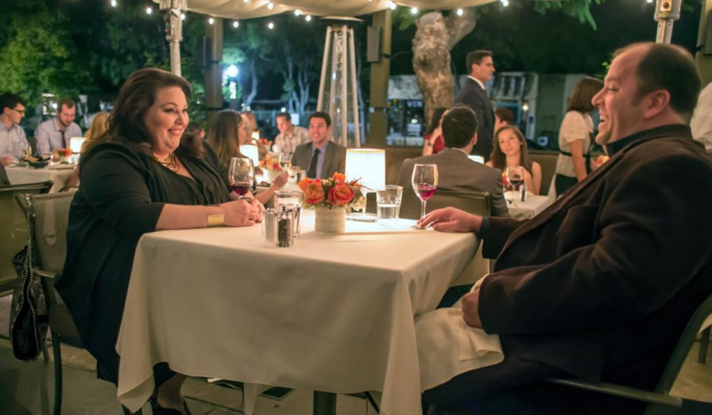 kate and toby dinner date this is us pilot