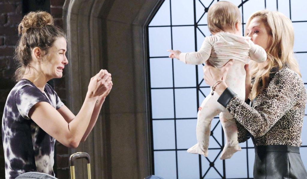 sarah gives rachel to kristen days