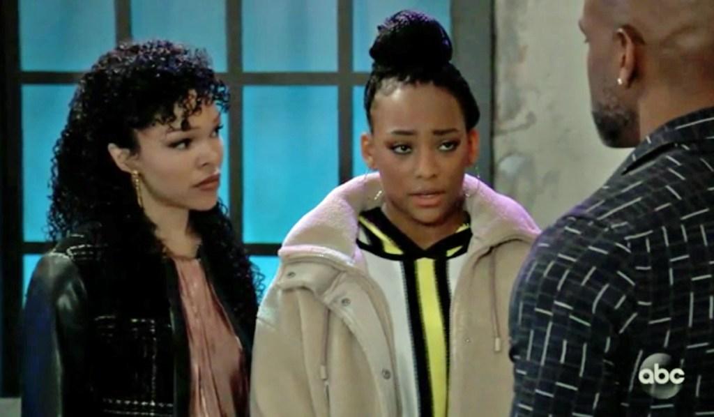 Trina apologizes to Curtis GH