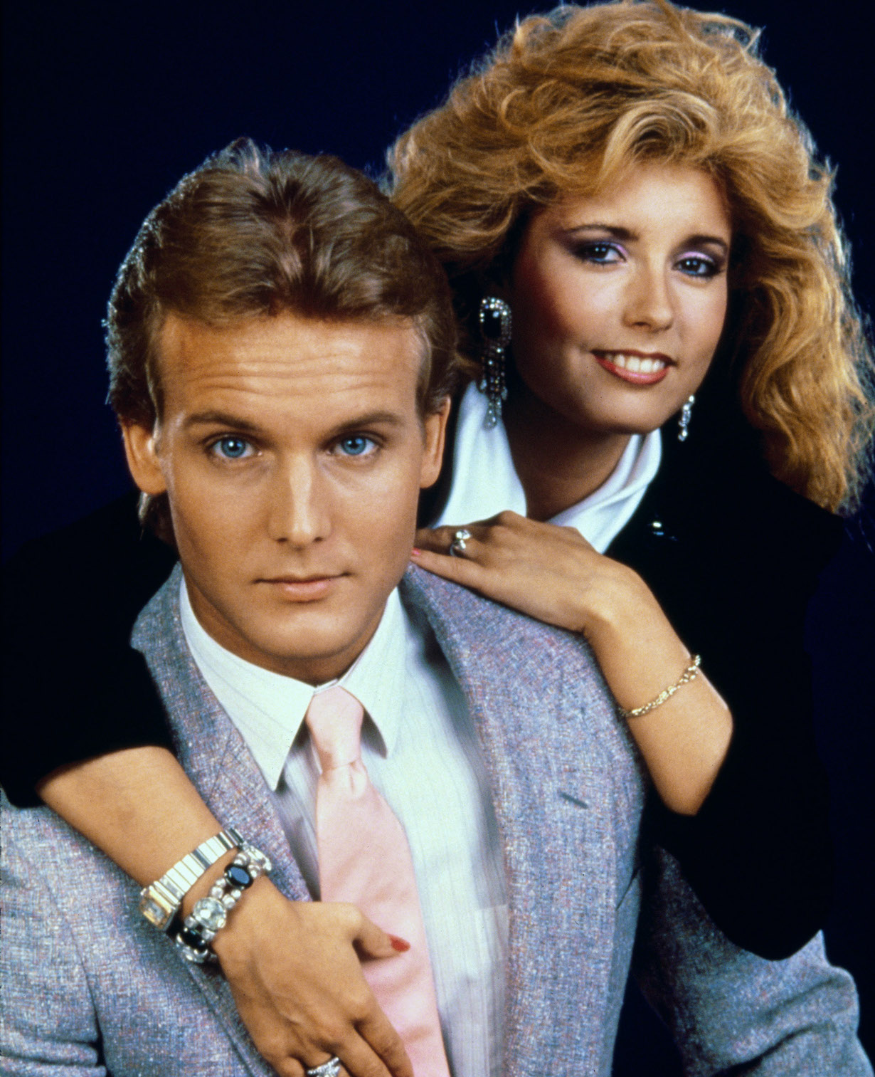 THE YOUNG AND THE RESTLESS, (from left): Doug Davidson, Tracey E. Bregman, (ca. 1987), 1973-. © CBS / courtesy Everett Collection