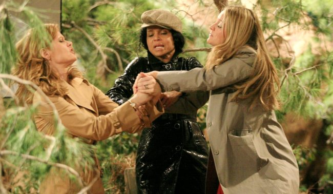 """Victoria Rowell, Michelle Stafford, Sharon Case""""The Young and the Restless"""" Set CBS Television City Los Angeles 2/26/07 ©Brian Lowe/jpistudios.com 310-657-9661 Episode #8613"""