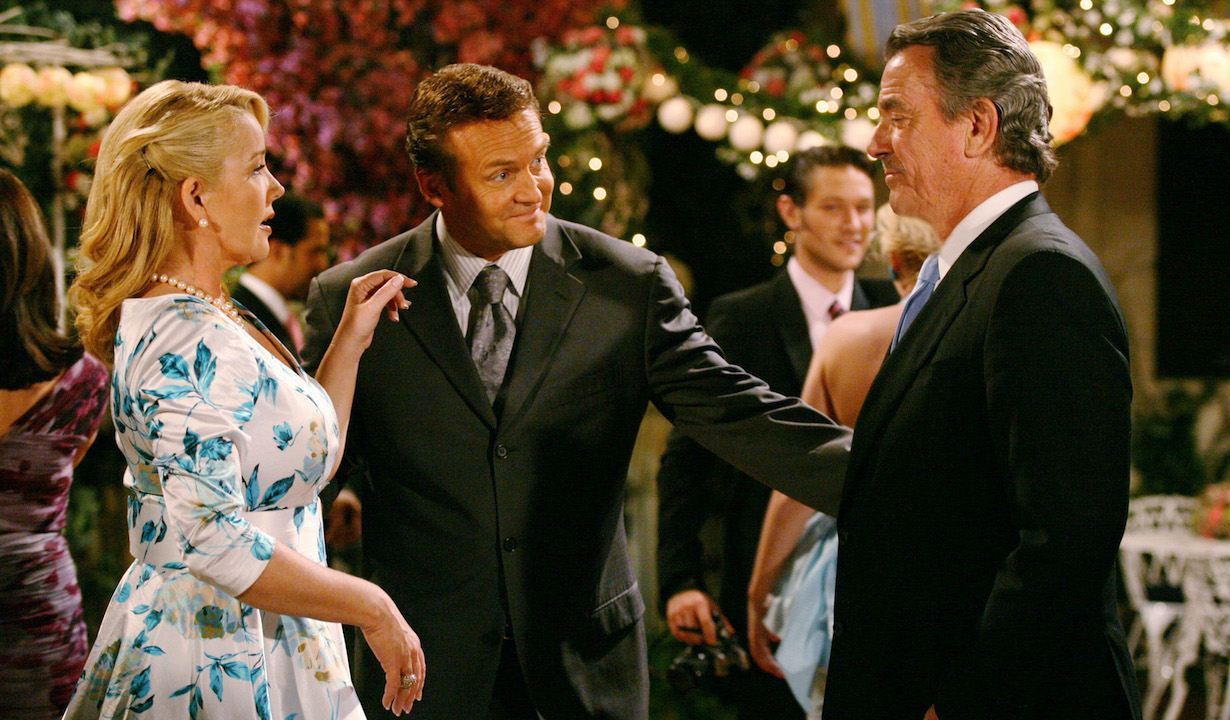 "Melody Thomas Scott, Eric Braeden, Doug Davidson ""The Young and the Restless"" Set CBS Televison City Los Angeles 4/1/09 ©Aaron Montgomery/jpistudios.com 310-657-9661 Episode # 9137 U.S. Airdate 5/4/09"
